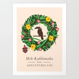 Mele Kalikimaka Art Print