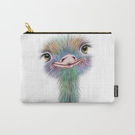 Ostrich colorful bird Carry-All Pouch