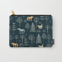 Magic Storybook Northwest Forest Pattern Carry-All Pouch