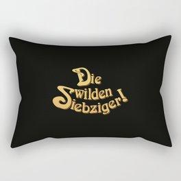 Title - Die Wilden Siebziger! Rectangular Pillow