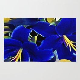 Blue Lilies Rug