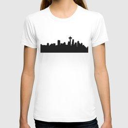 seattle cityscape silhouete T-shirt