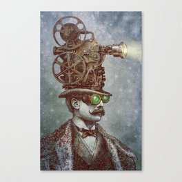 The Projectionist (colour option) Canvas Print