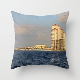 Shoreline in Fort Myers II Throw Pillow