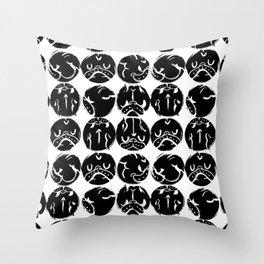Black French Bulldog Dot Throw Pillow