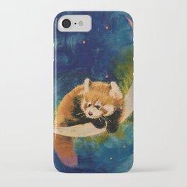 Red Panda Moon iPhone Case