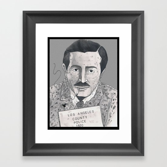 1930 Walt Framed Art Print