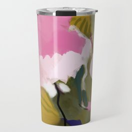 abstract jungle leaves Travel Mug