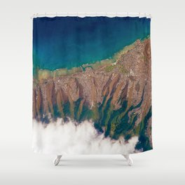 Aerial view of Honolulu Hawaii Shower Curtain