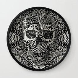 Lace Skull Wall Clock