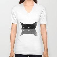jojo V-neck T-shirts featuring Jojo by SensualPatterns