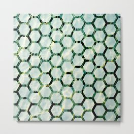 Sea Honeycomb Metal Print