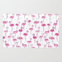 Watercolour Flamingoes Rug