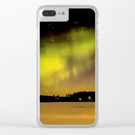 Northern Lights Fill The Sky Clear iPhone Case