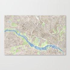 Richmond Virginia City Map Canvas Print