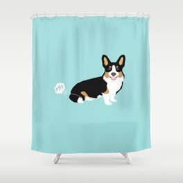 Corgi funny fart dog pure breed gifts dog lovers tricolored corgis Shower Curtain