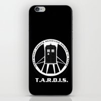 agents of shield iPhone & iPod Skins featuring Agents of TARDIS black and white Agents of Shield, Doctor Who mash up by Whimsy and Nonsense