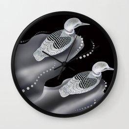 Black River Ducks Wall Clock