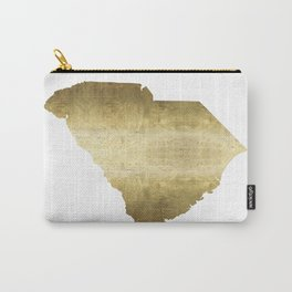 south carolina gold foil state map Carry-All Pouch