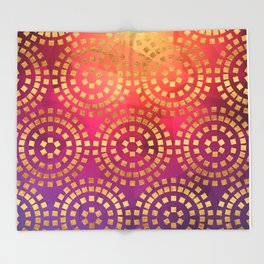 Summer Heat Geometric Pattern Throw Blanket