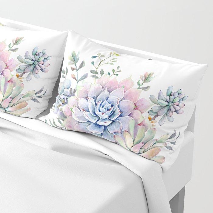 succulent watercolor 1 Pillow Sham