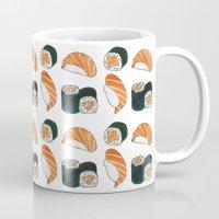 sushi Mugs featuring Sushi by Rache