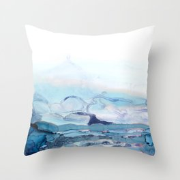 Indigo Abstract Painting | No.6 Throw Pillow
