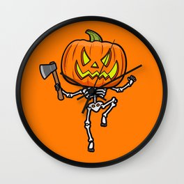 Pumpketon is coming for you Wall Clock