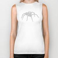 spider Biker Tanks featuring Spider by Jessica Slater Design & Illustration