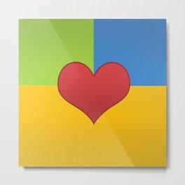 Heart in a Box Metal Print