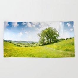 Idyllic Cotswold Summer Landscape Beach Towel