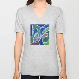 Curved Paths Unisex V-Neck