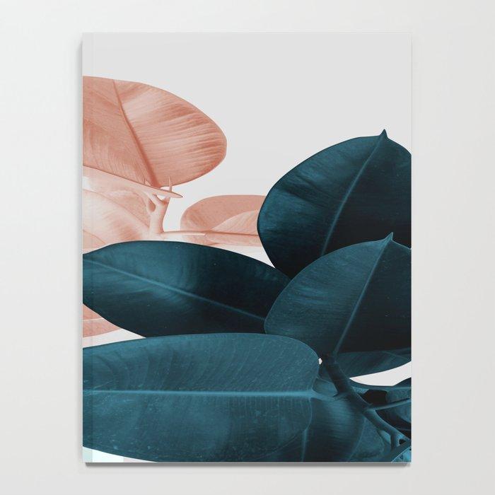 Blush & Blue Leaves Notebook