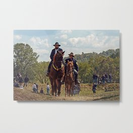 Weary Union Soldiers Metal Print