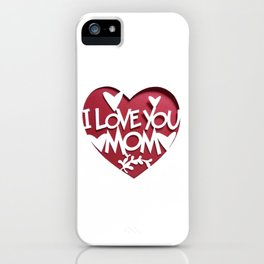 Mother's Day T-Shirt iPhone Case
