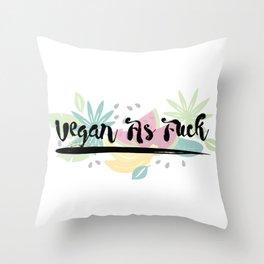 Vegan As F##k Throw Pillow