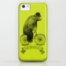 Bears on Bicycles (Lime) iPhone 5c Slim Case