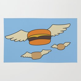 Bob's Burgers Flying Hamburger picture Rug