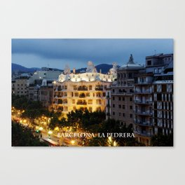 Barcelona. La Pedrera Canvas Print
