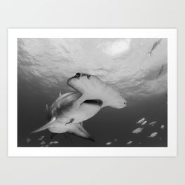 Greatness in Black & White Art Print