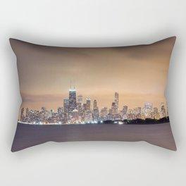 Chicago from Montrose Harbor Rectangular Pillow