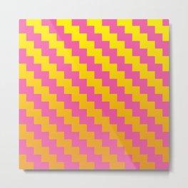 Yellow Orange and Pink Pattern Metal Print