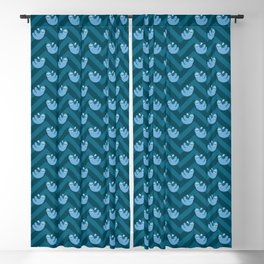 Blue sloths and chevrons Blackout Curtain