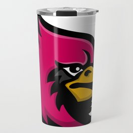 Cardinal Bird Head Mascot Travel Mug