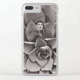 Succulent Woman Clear iPhone Case