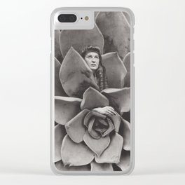 Succulent Woman Clear iPhone Case