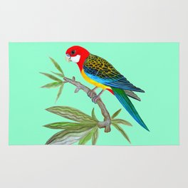 golden-mantled rosella Rug