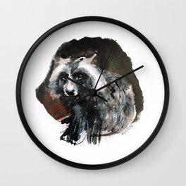 Totem  Racoon dog Wall Clock