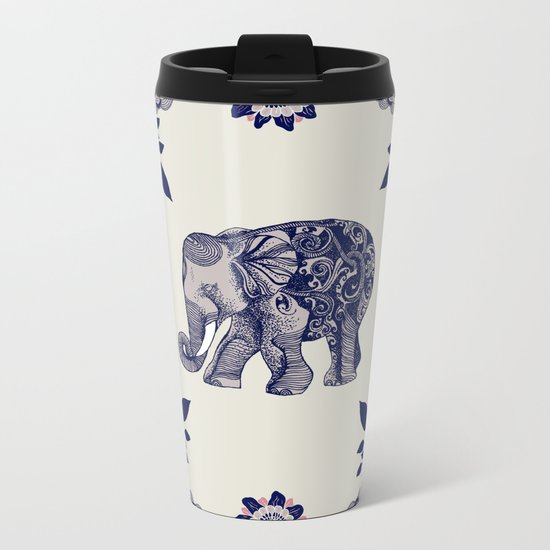 Elephant Pink Metal Travel Mug