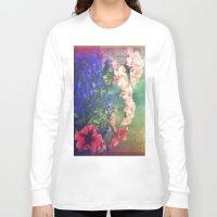 olivia joy Long Sleeve T-shirts featuring Flowers of my joy by Victoria Herrera